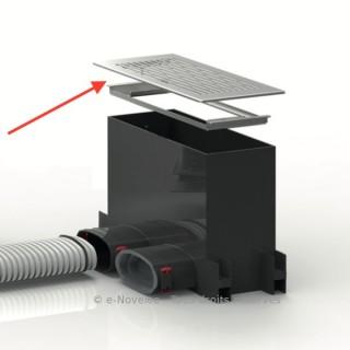 Kit Grille design avec cadre pour plénum sol/mur rectangulaire [- FRS-WGS - Réseau FlexPipe - Helios]