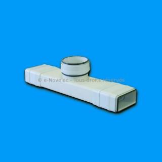 Té pour conduit à joints - TERV [- conduits PVC de Ventilation - Unelvent]