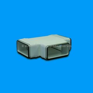 Té horizontal rectangulaire à joints - THRV [- conduits PVC de Ventilation - Unelvent]