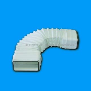 Tube rectangulaire souple à joints - TFRV [- conduits PVC de Ventilation - Unelvent]