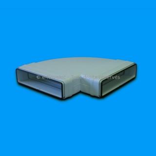 Coude horizontal rectangulaire 90° à joints - CHRV [- conduits PVC de Ventilation - Unelvent]