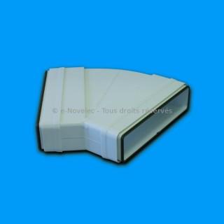 Coude horizontal rectangulaire 45° à joints - CHMV [- conduits PVC de Ventilation - Unelvent]