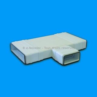 Té horizontal réduit rectangulaire à joints - TRPV [- conduits PVC de Ventilation - Unelvent]