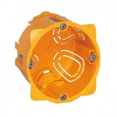 Boîte monoposte - pour cloison sèche - vis/griffe - 1 poste [- pour produit Art Collection 80 x 80 mm - Arnould]