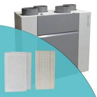 Filtres G4 et F7 pour VMC Optimocosy HR (jeu de 2 filtres G4 + 1 filtre F7) [- accessoire VMC double flux - Atlantic]