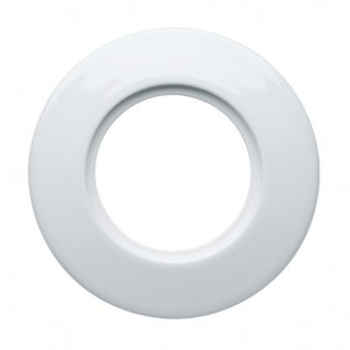 Plaque périphérique porcelaine - Albatre - 1 poste [- 1930 Rosenthal - Palazzo - Hager - WMV422 - 3250617150514]