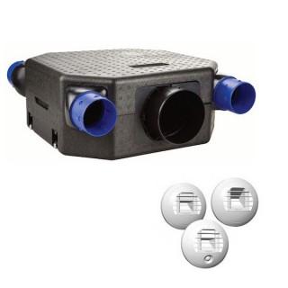 Kit OZEO FLAT 2 - avec bouches à piles [- Pack VMC Simple flux Hygro A/B + bouches - Unelvent]