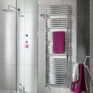 CALA +Air Chromé Mixte [- LNO-IFS - Sèche-serviettes ACOVA (Chauffage Central + soufflerie)]