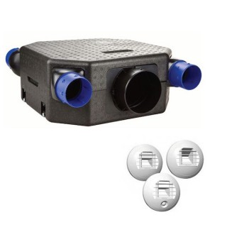 Kit OZEO FLAT ECOWATT 2 - avec bouches à piles [- Pack VMC Simple flux Hygro A/B + bouches - Unelvent]