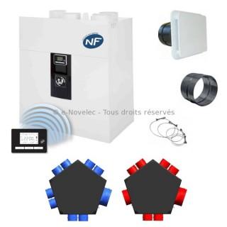Kit P08 IDEO² 325 Ecowatt Radio - Promotion avec nouvelle VMC IDEO [- VMC Double flux Très Haut Rendement - 600085 - Unelvent]