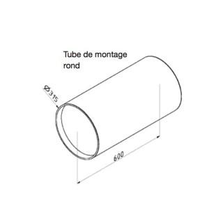 Tube de montage rond pour ComfoSpot 50 [- Accessoire VMC double flux pour pièce individuelle - Zehnder]