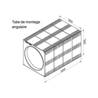Tube de montage angulaire pour ComfoSpot 50 [- Accessoire VMC double flux pour pièce individuelle - Zehnder]