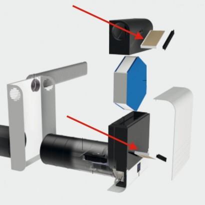 Jeu de 2 Filtres G4 ComfoAir 70 [- Filtration pour ventilation double flux ComfoAir 70 - Zehnder]