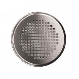 Grille ronde métallique Torino - Ø 125 mm - Blanche ou Inox [- Bouche acier - Réseau ventilation - Zehnder]