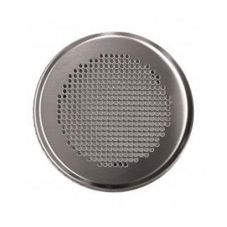 Grille ronde métallique Venezia - Ø 125 mm - Blanche ou Inox [- Bouche acier - Réseau ventilation - Zehnder]