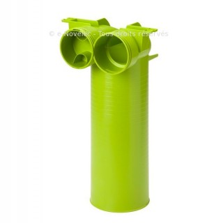 Coude mixte vertical polyéthylène - XCMV 75 ou 90 [- Conduits et accessoires VMC en PEHD - Réseau Clip & Go - Atlantic]