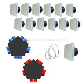 KIT Accessoires P08 [- accessoire VMC double flux - Unelvent]