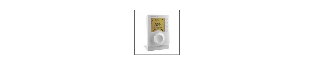 thermostats programmables gestion chauffage central eau chaude gaz pompe chaleur domotique e. Black Bedroom Furniture Sets. Home Design Ideas