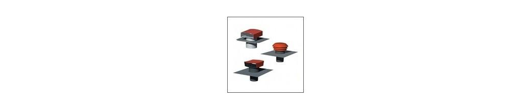sorties toiture chapeaux de toiture en plastique ou acier avec abergements en plomb e novelec. Black Bedroom Furniture Sets. Home Design Ideas